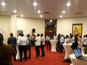 Industry professionals networking at the AZA event